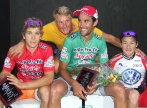 Le podium de la 4e course
