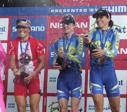 Le podium victorieux
