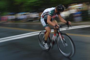 Martin Gilbert, seul lors d'un sprint la semaine dernière. (Photo : Philippe Boisvert)