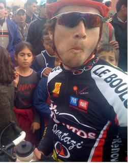 Roston Bensenti, vainqueur de la 9e étape du Tour du Sénégal 2008