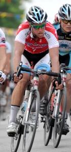 Martin Gilbert, détenteur du maillot rouge Quilicot-Specialized (Robert Wilson)