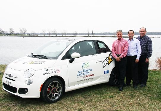La nouvelle voiture de course des Mardis, prêtée par LaSalle Fiat.