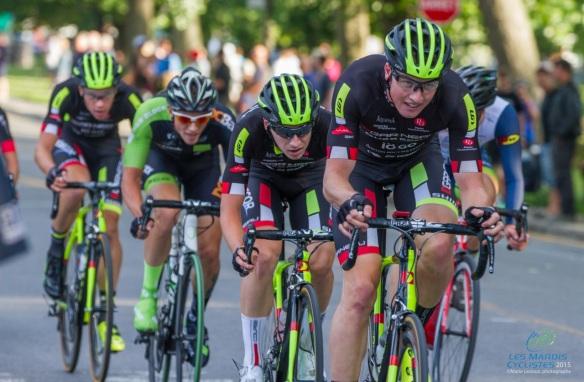La course a été chaudement disputée, mardi, aux Mardis cyclistes de Lachine alors qu'un athlète junior a pris possession du maillot jaune.